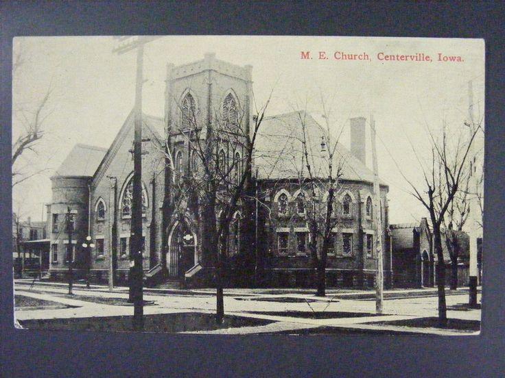 Centerville Iowa IA ME Church Antique Postcard c1910 #ebay #Centerville #Iowa #Postcard #Church #ForSaleOnEbay #Antique