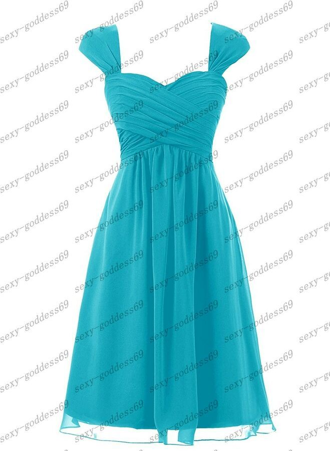 New Short Chiffon Formal Prom Party Cocktail Gown Evening Bridesmaid Dress 6-24