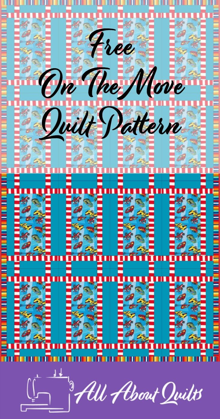 A free quilt pattern to showcase those fabrics with a larger design on them. Especially good for an eye spy quilt.