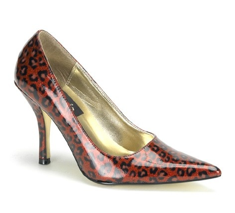 love these - I have a similar pair - open peek-a-boo toe, cherry red with black snakeskin and matching purse