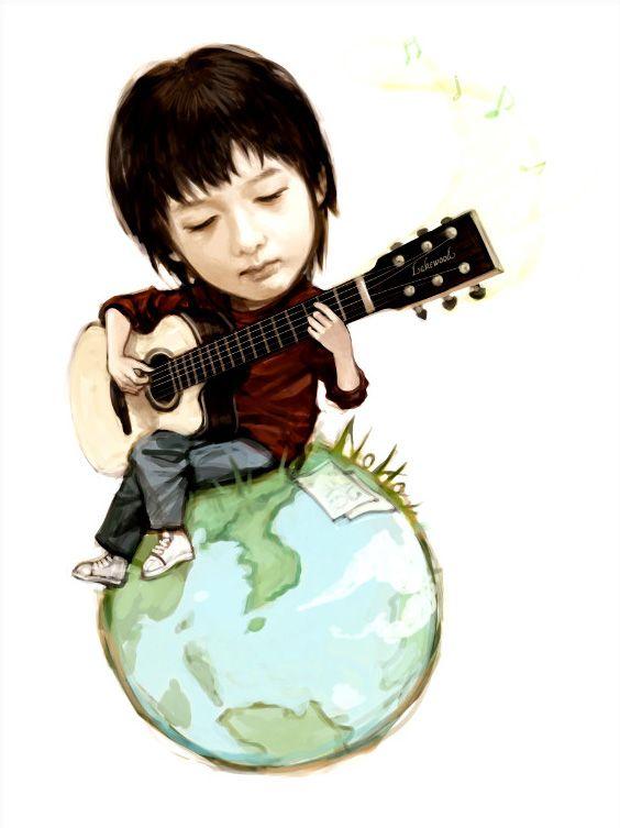 Sungha Jung Baby World Wallpaper