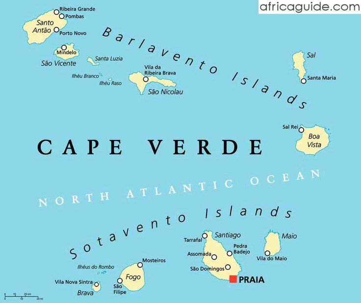 Resultado De Imagen Para Cabo Verde Cabo Verde Pinterest - Cape verde map