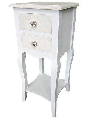 Telefontisch Beistelltisch Konsole Tisch Nachttisch antik weiß shabby Landhaus ! in Möbel & Wohnen, Möbel & Wohnen | eBay