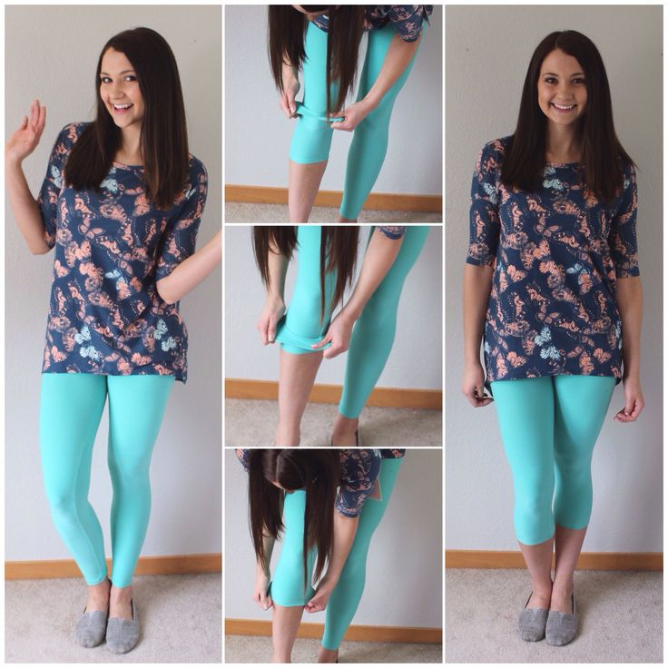 Wear #leggings full length or use this technique for capris! #lularoe #outfit…