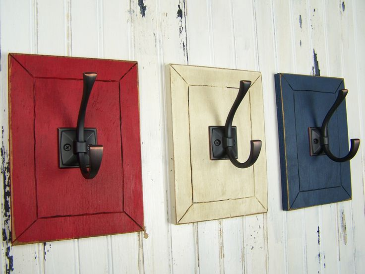Decorative Wall Hooks Entryway Hooks Mudroom Hooks Country Cottage Rustic Bathroom Decor Americana Decor Fourth of July Patriotic Decor by PineRidgeDesigns on Etsy https://www.etsy.com/listing/268971607/decorative-wall-hooks-entryway-hooks