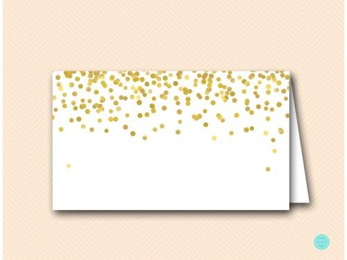 BS46 Avery5302 gold food labels placecard namecards