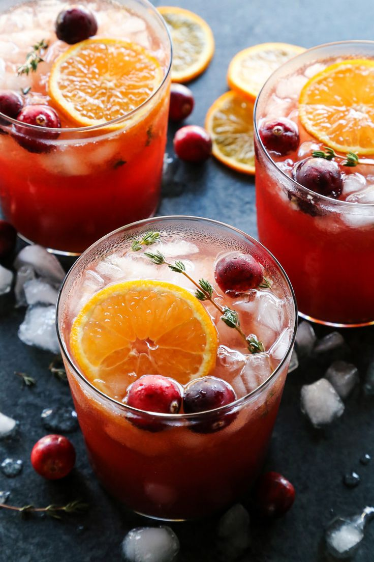 Cranberry Thyme Gin and Tonic Recipe Gin, tonic