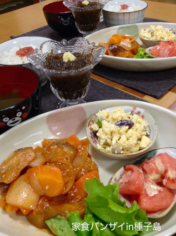2015/6/26 夕食 豚肉は入ってない酢豚風