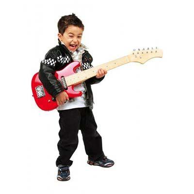 til drengen der vil være rockgud kunne en el legetøjsguitar være sagen | shopsites.dk