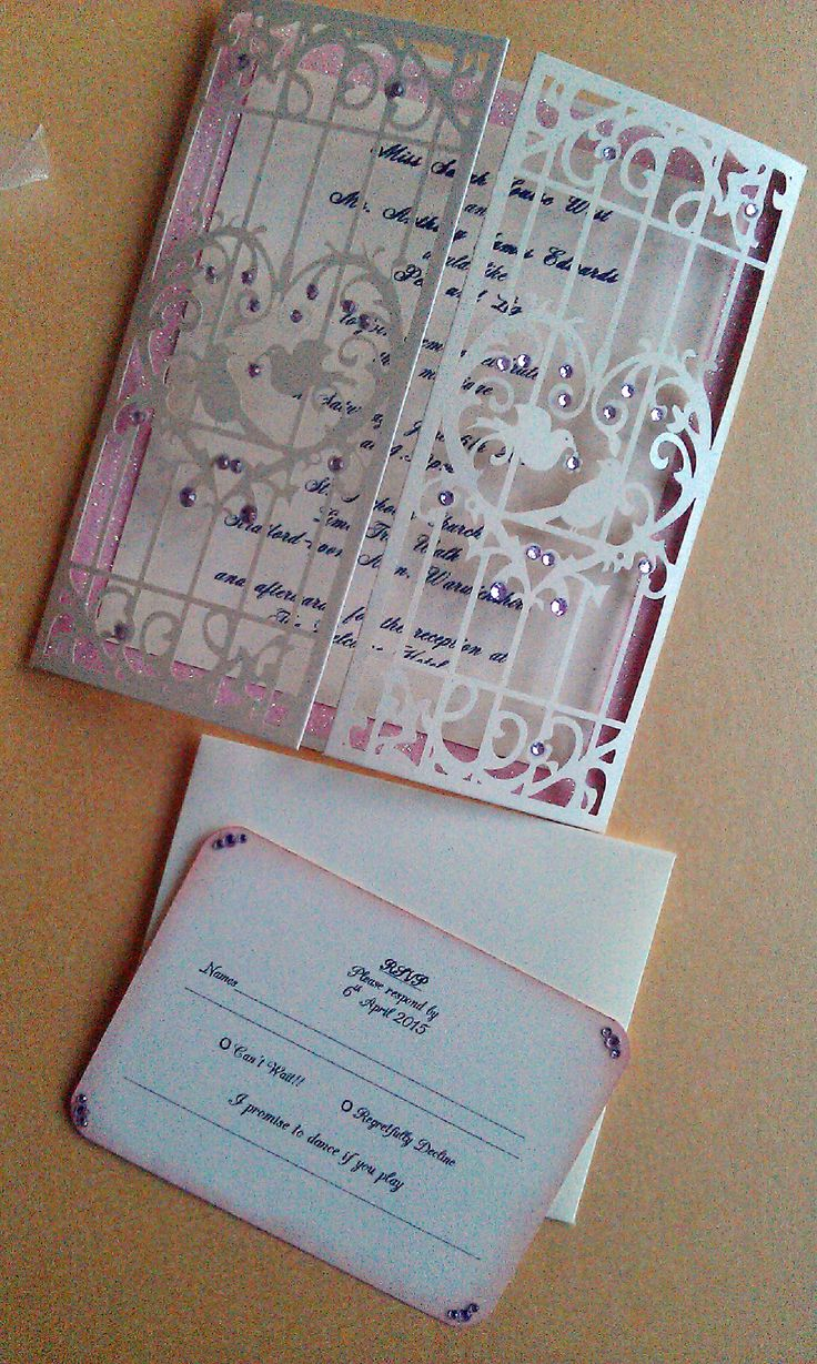 83 best Laser Cut Wedding Invitations by crafty designer. images ...