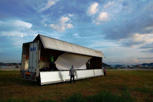 OKAYAMA - Uno Film Screening Event 2015年8月7日〜10日の4日間、野外シアターで国際インディペンデント映画を観よう!第5回宇野港芸術映画座 - クラウドファンディングのMotionGallery