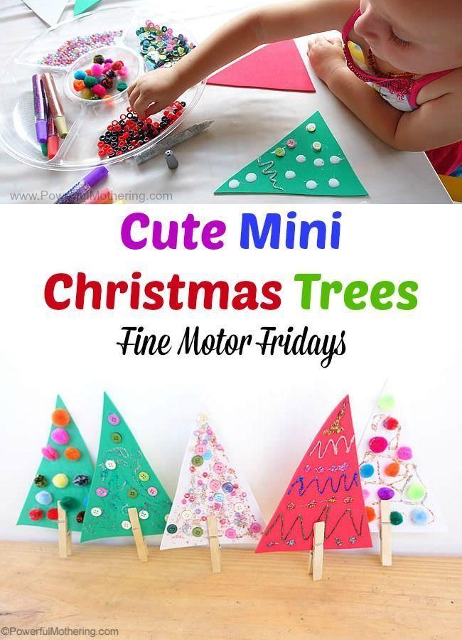 Cute Mini Christmas Trees Cute Kids Crafts Pinterest Christmas