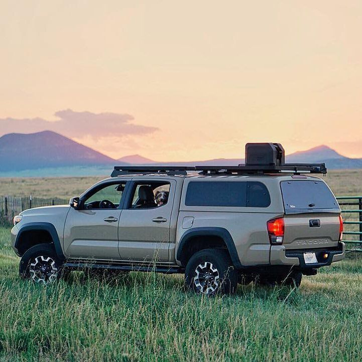 Traveling to New Mexico Front Runner Style!  _______________  #Sunset captured by @tylersharpphoto  _______________  #FrontRunnerOutfitters #Toyota #Tacoma #NewMexico #SunSet #Overland #OffRoad #SafariLife #roofrack #seetheworld