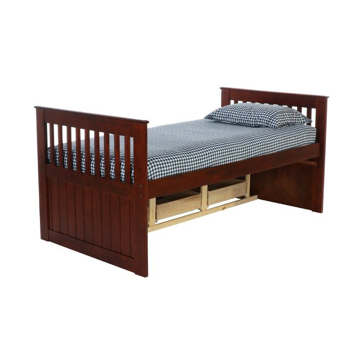 Trumble Twin Sleigh Bed With Drawers Twin Sleigh Bed Sleigh