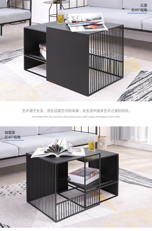 Louis Fashion A Few Small Coffee Tables Beside The Sofa Simple Modern Living Room Square Iron Art Side In Coffee Ta Simple Sofa Modern Living Room Coffee Table