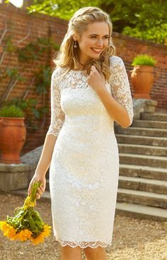 Lila Wedding Dress Short Ivory by Alie Street
