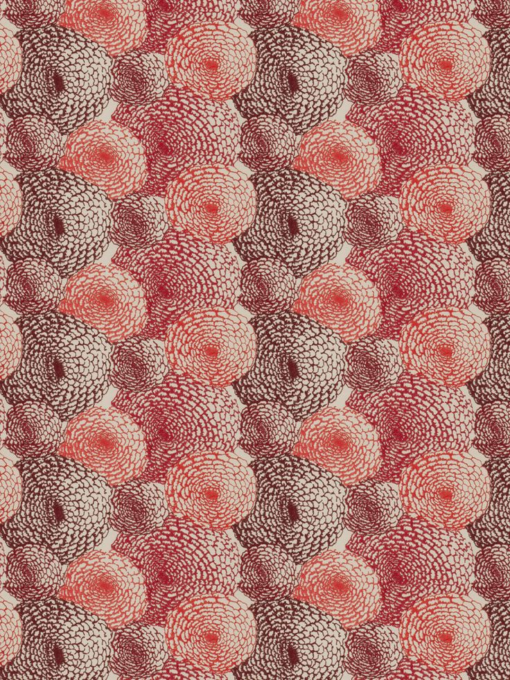 Pattern Kiku in color Cherry from the S. Harris collection. #Marsala #ColoroftheYear #SHarris
