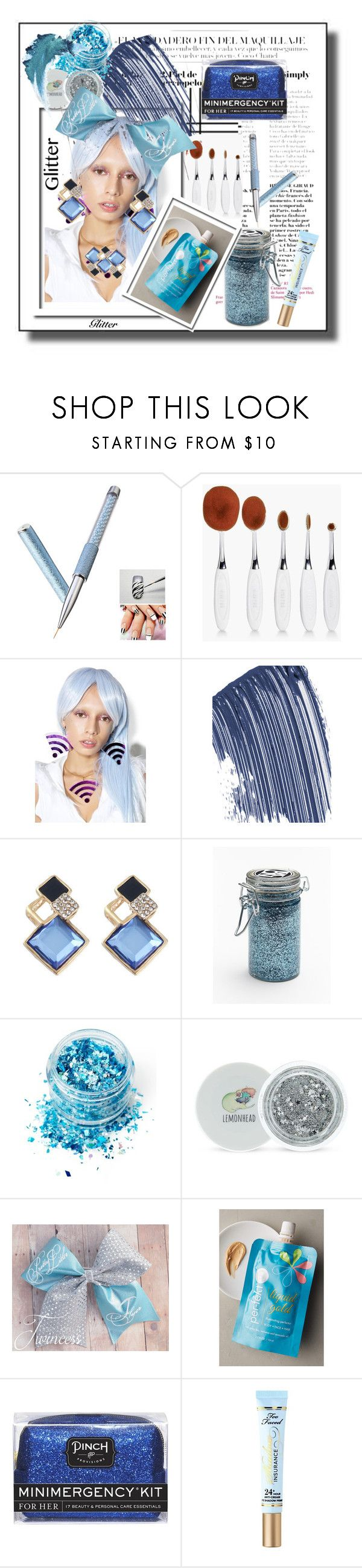 """Shine On Cerulean Girl 💡"" by mavinex-de-nova ❤ liked on Polyvore featuring beauty, Boohoo, Marina Fini, Guerlain, Major Moonshine, In Your Dreams, Forever 21, Per-fékt Beauty, Pinch Provisions and Too Faced Cosmetics"