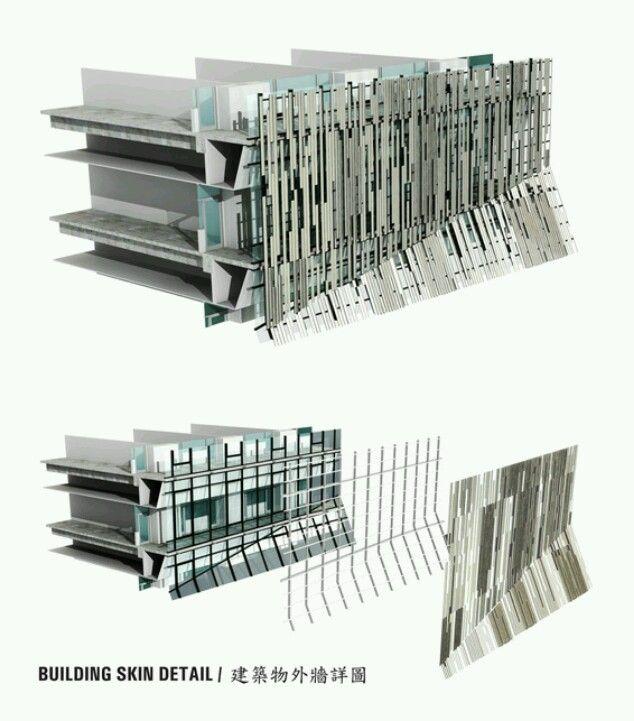 Metal facade