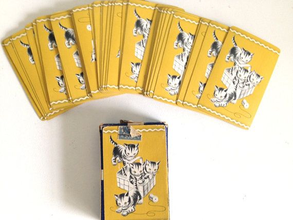 Boulevard Pinochle Kitty Playing Card Decks by 4EnvisioningVintage