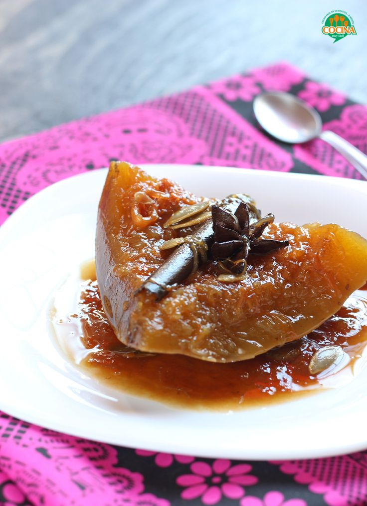 Calabaza en tacha o dulce de calabaza. Receta | Cocina Muy Fácil | http://cocinamuyfacil.com