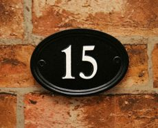 Cast Metal House Number In Black With White Lettering. Would Suit A Period  Home Or