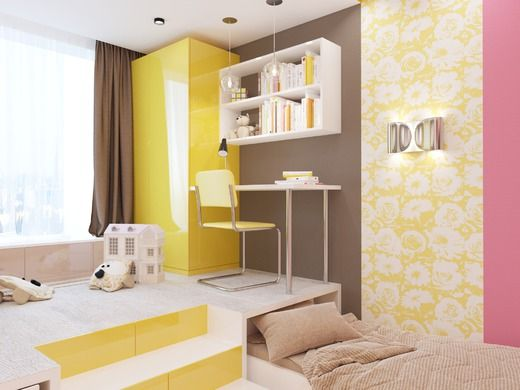 Яркая современная детская спальня . Детская