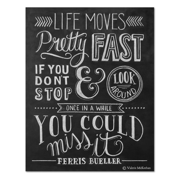 Life Moves Pretty Fast Print by Lily  Val on THEHOME.COM.AU