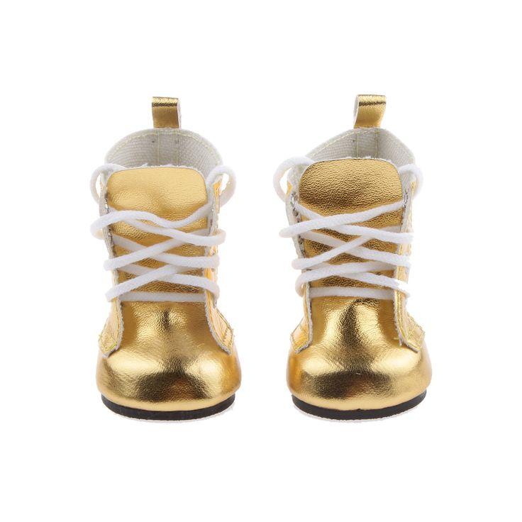 """Moda de Encaje Hasta Zapatos de LA PU Botas Cálidas Zapatos para 18 """"Botas Muchachas americanas Dolls Muñecas Accesorios Chica de Cumpleaños Del Bebé Juguetes para Niños"""