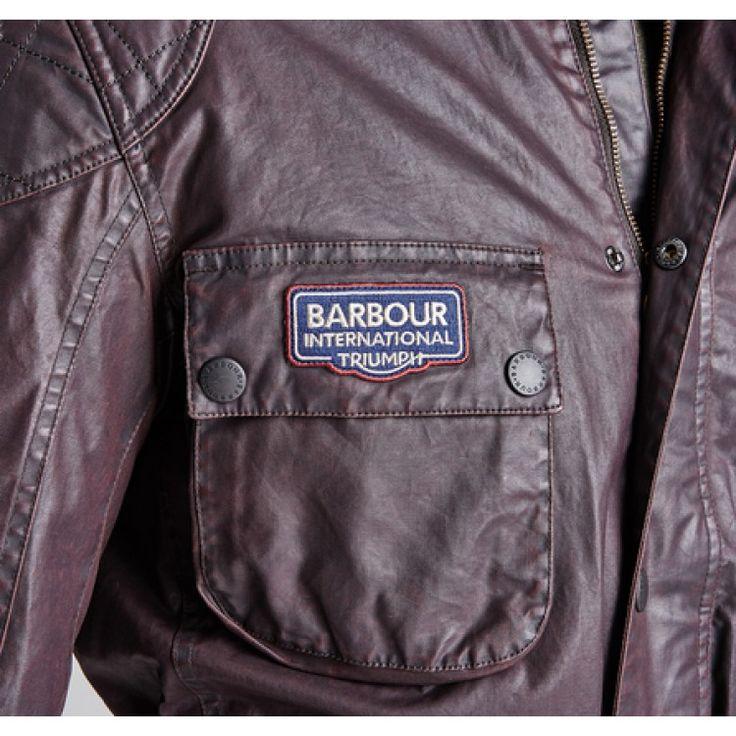 john-andy.com | Barbour Triumph biker wax jacket