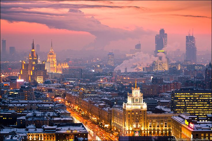 Winter cityscape at sunset. Aerial view | Flickr - Photo Sharing!