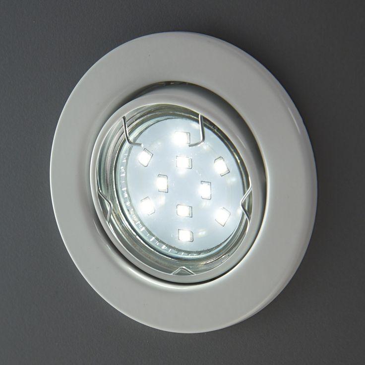 Simple LED Einbaustrahler LUPUS im er Set u schwenkbar u Leuchtmittel T V gepr ft u