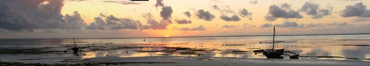 Sunrise over the beach at Matemwe, east coast of Zanzibar.