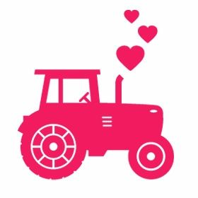 cute! would be an awesome decal for a baby girl's farm nursery =)