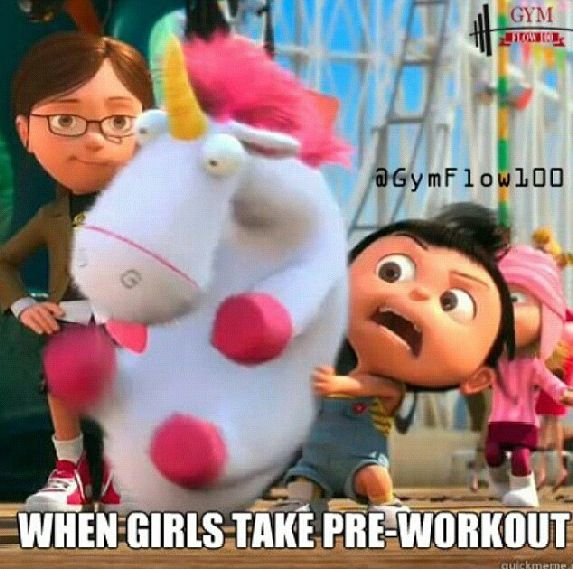 When girls take pre work out hahaha-- yup that's me this morning!!!