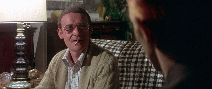 """Buck Henry as Oliver Farnsworth,  David Bowie as Thomas Newton in """"The Man Who Fell To Earth"""""""
