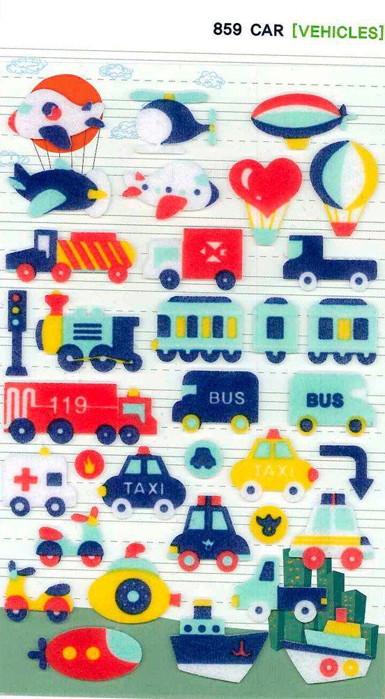 Korean Scrapbook Diecut Felt Stickers The by scrapbooksupply, $1.75