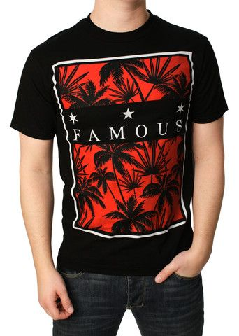 Famous Stars And Straps Men's Tropical Box Graphic T-Shirt