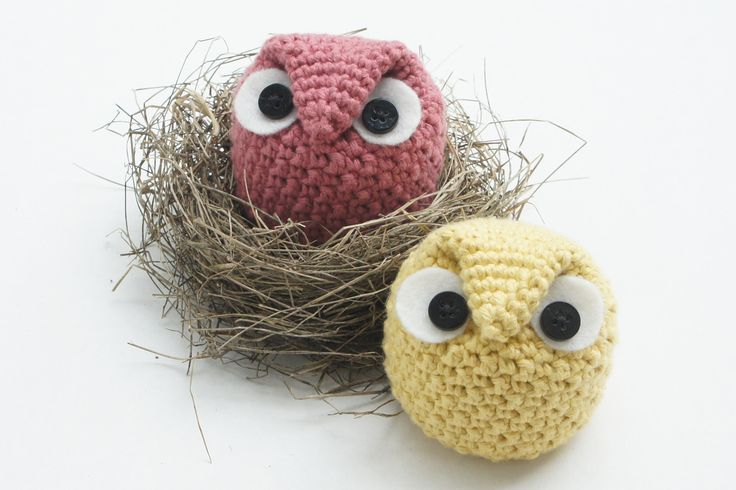 Little Owls - so sweet . knot•sew•cute design shop: new crochet pattern - chubby owl family by tara schreyer.
