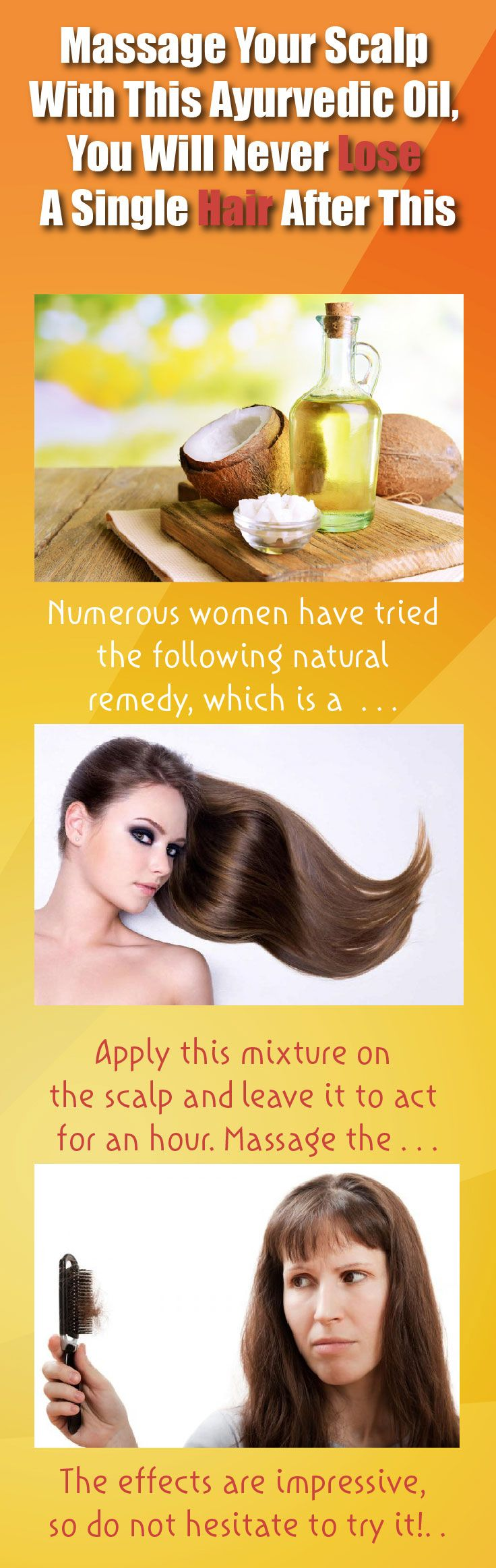 Numerous women have tried the following natural remedy, which is a traditional Ayurvedic remedy which has been commonly used to treat hair loss. It contains three ingredients which nourish the scalp and stimulate the hair growth. This is how to prepare it: Ingredients: -Coconut oil -Castor oil Apply this mixture on the scalp and leave…