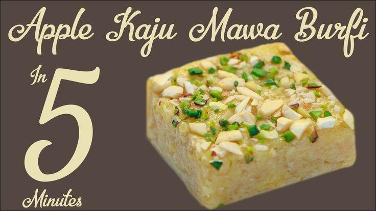 5 Minutes Barfi Burfi Recipe In Hindi Easy Apple Mawa Kaju Barfi Indian Sweet Recipe In Hindi - YouTube
