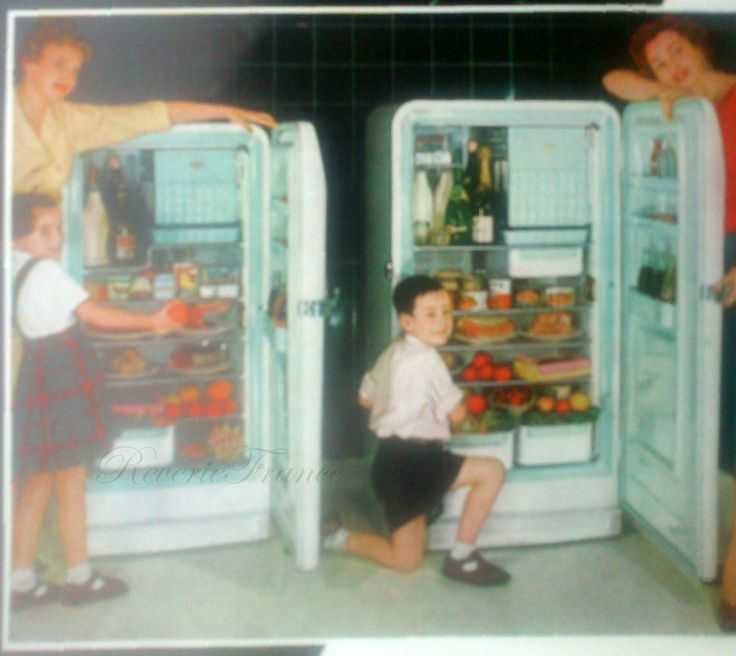 Vintage French Ad Frigidaire Refrigerator France 1954, Midcentury Kitchen Appliance Advertisement by reveriefrance on Etsy