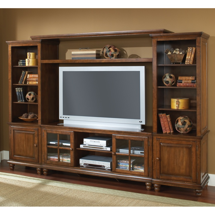 "Grand Bay 109"" TV Entertainment Wall Unit Hillsdale 