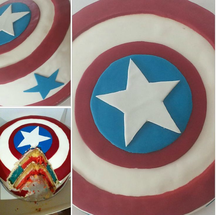 Once Upon A Pie | Captain America Cake / American Flag Cake