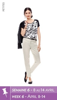 Houndstooth+print+tee,+faux+leather+jacket,+ankle+pant,+skinny+belt,+bracelets,+studded+loafers+/+Haut++imprim,+veste+de+similicuir,+pantalon+cheville,+ceinture+troite,+bracelet,+mocassins++clous+#reitmans+#anklepant+#pantaloncheville+#petites+#reitmanspinittowinit