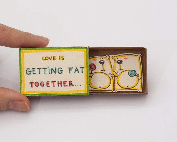 Anniversaire amour romantique carte Matchbox / boîte de par shop3xu