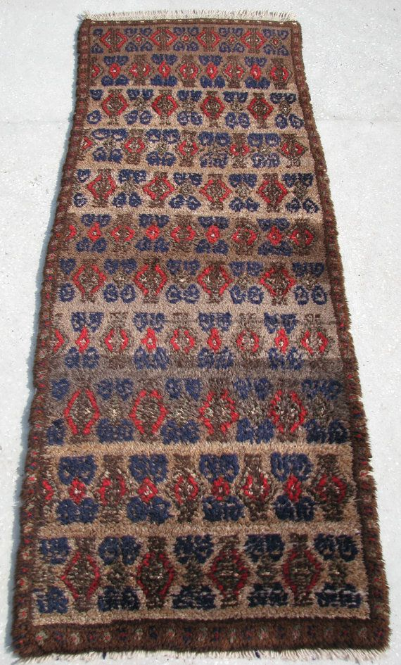 Turkish Carpet Runner For Hallway From Central-Anatolia - 70cm x 190cm - 2'3.6'' x 6'2.8'' Excluding Fringes