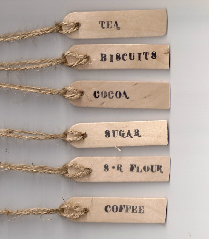 Wooden Jar Labels tags, Tea Coffee Sugar Biscuits, Kilner, Storage, Blackboard | eBay