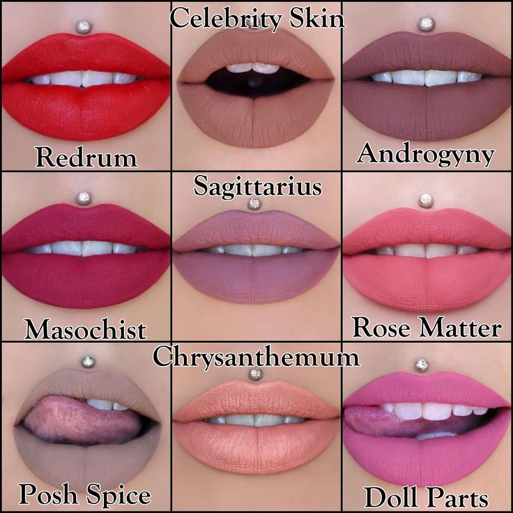 Jeffree Star Cosmetics ~ Velour Liquid Lipstick Swatches ~ Redrum, Masochist, Posh Spice, Celebrity Skin, Sagittarius, Chrysanthemum, Androgyny, Rose Matter, & Doll Parts