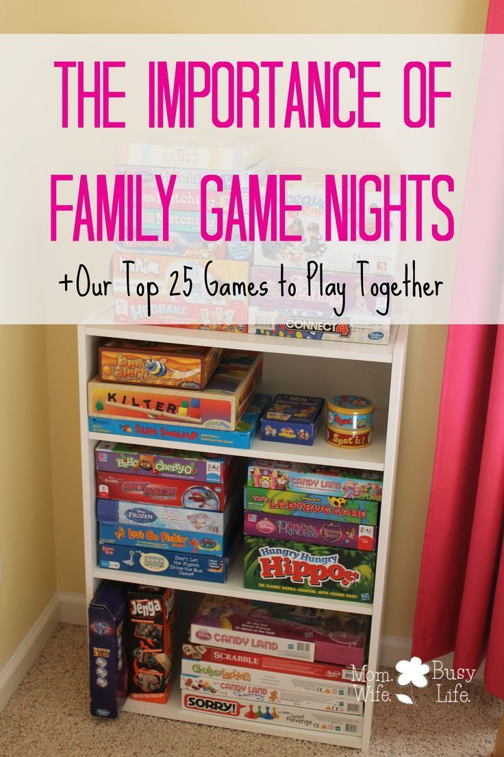 The Importance of Family Game Nights + Our Top 25 Games to Play Together!